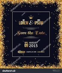 Invite Card Design Wedding Invitation Card Design Gold Confetti Stock Vector