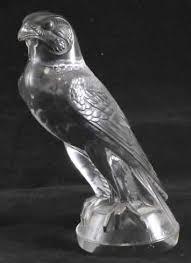 rene lalique faucon ornament 5298 rlalique