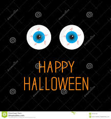 eyeballs blue eyes happy halloween card stock photography