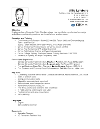 cabin crew objective resume sample free resume example and