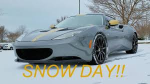 nissan 370z quiet tires does my lotus with summer tires love the snow youtube