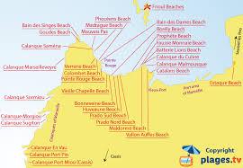 marseilles map beaches in marseille 13 seaside resort of marseille
