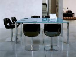 Transparent Acrylic Chairs Funiture Acrylic Office Furniture Mixed With Round Transparent