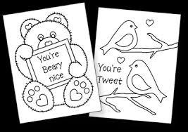 printable valentine cards kids free valentine coloring cards