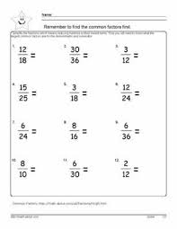 reduce the fraction worksheets 6th grade math