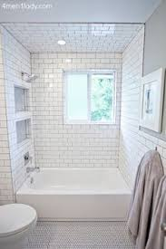 bathroom ideas white tile tiled shower niches bathroom has several more clever storage