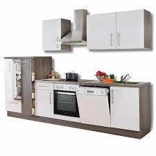 roller küche küchenblock weiß hochglanz trüffel mit e geräten