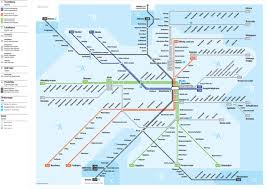 New Orleans Street Car Map by Official Map Rail Transit Of Stockholm Sweden Transit Maps Of