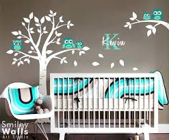 Nursery Wall Decals For Boys Decals For Baby Room Walls And Owls Tree Wall Decal Owl Wall Decal