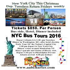 thanksgiving tour to new york penn and washington dc in college