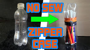 diy for kids no sew zipper case from water bottle very easy
