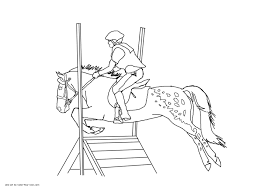 appaloosa cross jumping pony coloring page