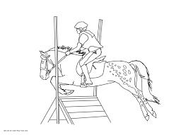 appaloosa cross jumping pony coloring page