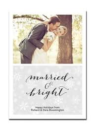 Newlywed Cards Newlywed Christmas Card Married And Bright Photo Holiday Card