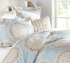 Covered Duvet Cressida Medallion Duvet Cover U0026 Sham Pottery Barn