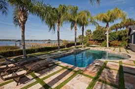 Lagoon Swimming Pool Designs by Exterior U0026 Landscaping Rinek Inc Custom Luxury Home Builders