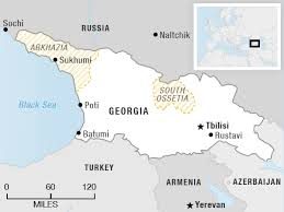 south ossetia map along a shifting border and russia maintain an uneasy