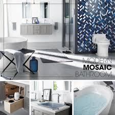 mosaic bathroom ideas modern mosaic bathroom kohler ideas
