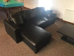 black leather sofa bed in southside glasgow gumtree