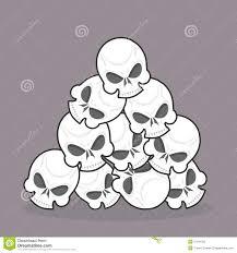 pile of skulls stock vector image 51641292