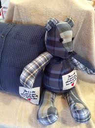 remembrance teddy bears memory made from a loved ones clothing these are made