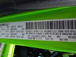 2012 wrangler color code pfm for gecko green photo 66819022