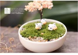 cows lovely animals ornaments garden miniatures