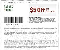 Barnes And Nobles Membership Barnes U0026 Noble 5 Off 25 Purchase Printable U0026 Online Coupon Al Com