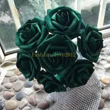 bulk artificial flowers 100 emerald green flowers artificial foam roses wholesale bulk