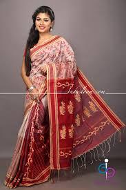 dhakai jamdani dhakai jamdani swarnalata cotton saree indus loom