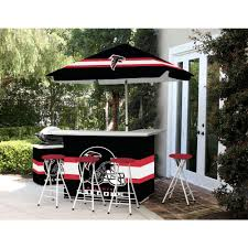 Atlanta Falcons Home Decor by Best Of Times Atlanta Falcons All Weather Patio Bar Set With 6 Ft