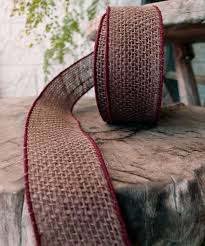 burlap wired ribbon brown burlap wired ribbon 2