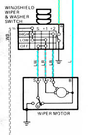 wiper motor wiring diagram i need to the schematic or within
