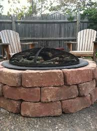How To Make A Cheap Fire Pit In Your Backyard by Exterior Design Interesting Natural Green Grass With Lowes Fire