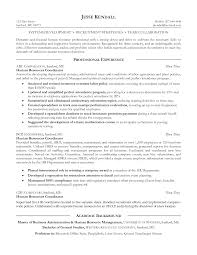 Hr Assistant Resume Samples Human Resources Generalist Resume Sample Examples