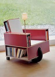 Bookshelf Chair Mobile Bookshelf Chair