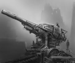 how to draw mecha machine cannon weapon design quick concept art
