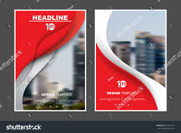 a4 size abstract flat layout wave stock vector 431812627