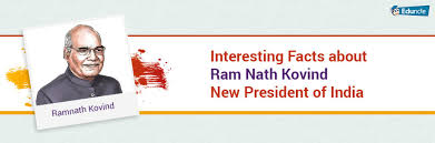 facts about ram nath kovind new president of india