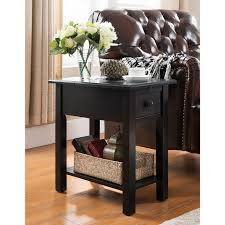 Black Side Table Sutton Black Side Table With Charging Station Free Shipping On
