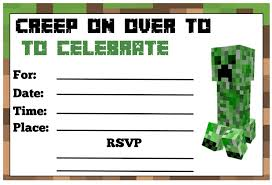 beautiful minecraft birthday party invitations 7786