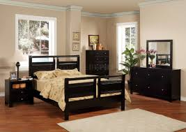 Bob Furniture Bedroom Set by Black Finish Modern 5pc Bedroom Set W Queen Or Full Bed