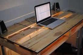Diy Glass Desk Home Design Beautiful Pallet Desk Plans Glass Top Home Design