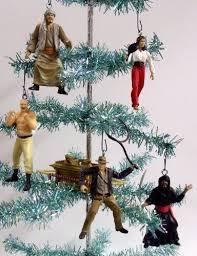 set of 6 indiana jones tree ornaments featuring indiana