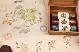 Avatar The Last Airbender Map Avatar The Last Airbender Collector Set On Behance Infográfico