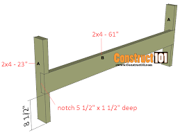 Bench Construction Plans Double Chair Bench Plans Step By Step Plans Construct101
