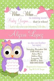 baby shower invitation owl owl baby shower invitation