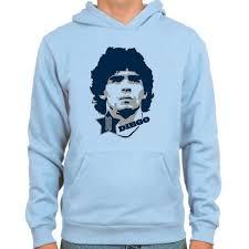 spielraum diego maradona 10 hoodie light blue sportus