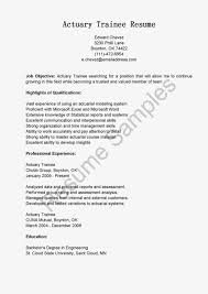 Internship Resume Sample For College Students Actuarial Resume Resume For Your Job Application