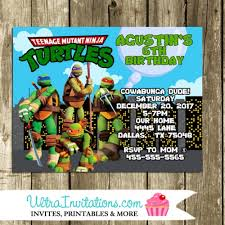teenage mutant ninja turtle invites etsy printable prints